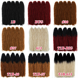 soft locks braids Australia - 18inch Ombre Color Micro Dread locs Long Straight Braiding Hair 54 strands pack Sister Locks Afro Crochet Braids