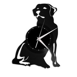 $enCountryForm.capitalKeyWord UK - Labrador New 12 inch Vinyl Record Wall Clock Round Black Wall Clock Creative Clock Modern Home Decor Simple Living Room Decoration Best Gift