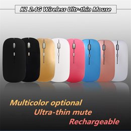 Ultra Thin Usb Optical Mouse Australia - 2019 USB Optical Wireless Mouse Ultra Thin rechargeable mice 2.4G Receiver Super Slim Mouse For Computer PC Laptop Desktop