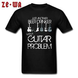 Guitar Tees Australia - Guitar Problem Vintage Tshirts Fashion Men's Plus Size Casual Print Tops Tees On Sale Band Rock Guitar Tshirts Men