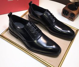 3706585f184c6 2019 New Italian Top Leather Famous Brands Shoes Mens Italian Dress Shoes  Oxford Top Leather Black Men s Size 38-45 With Box