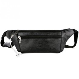 Color Leather Bags Australia - Solid Color Men PU Leather Waist Bag Running Fanny Pack Multifunction Packs Ultrathin Leather Male Outdoor Sport Waist Pack#1012 #492510
