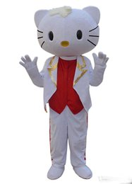Discount kitty mascot costume - 2018 new Anime Unisex Adult size Male Hello kitty Mascot hot selling happy costume Free shipping