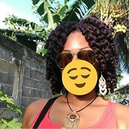 curl hair braids Australia - Jumpy Wand Curl Crochet Hair 1 Packs 8inch Jamaican Bounce Braiding Hair African Synthetic Hair Extension (99J#, 1packs Lot)
