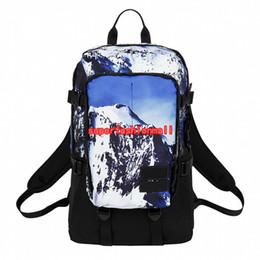 Camping paCks online shopping - Brand New Snow Mountain Designer Backpack Men Women Designer Bags Unisex Students Bags Camping Bag Outdoor Packs