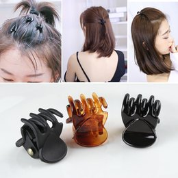 HAIR CLIP CLAW GRIP CLAW CLAMP BUTTERFLY CLIP CLAMP BLACK//BROWN WOMEN LADIES UK