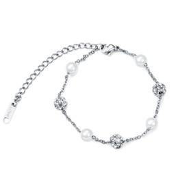 $enCountryForm.capitalKeyWord Australia - Fashion Women Bracelet Gold Silver Color Charm Bracelets For Girls Hands Rhinestone Pearl Jewelry Gift Trendy Style Bracelet Bangle