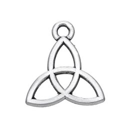 China New Charm Pendants Fashion Knot Antique Silver Hollow 14x13mm,300PCs (K03091) jewelry making Findings DIY free shipping cheap charm wholesalers suppliers