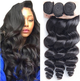 $enCountryForm.capitalKeyWord NZ - Loose Wave Human Hair Bundles 3 Bundle 100% Human Hair Weaves Brazilian Peruvian Hair Extensions 8-30 Inches Silky Weave
