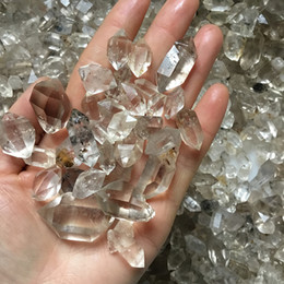 $enCountryForm.capitalKeyWord Australia - Free shipping 5pcs Top Quality Herkimer Diamond Quartz Crystal Double Point Wand Mineral Specimens wicca Healing