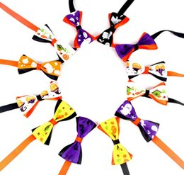 $enCountryForm.capitalKeyWord Australia - New Pet puppy Cat Dog Halloween 12 color ghost bow tie accessories necklace collar bowknot necktie grooming for pet supplier decoration