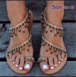 $enCountryForm.capitalKeyWord Australia - New Style Women Designer Party Wedding Shoes bride Summer Beach Prom Shoes Bohemian Flat Peep Toe Casual Dste Flat Sandals Shoes