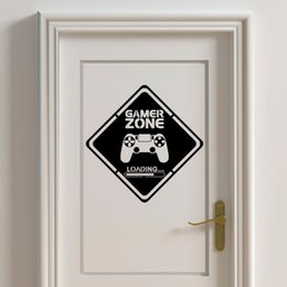 kids art games NZ - Gamer Zone Door Decal Gamer Wall Vinyl Stickers Controller Video Game Art Decals for Kids Rooms Boy Bedroom Home Decoration