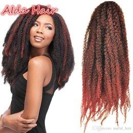 $enCountryForm.capitalKeyWord Australia - Marley Hair Crochet Braids Afro Kinky Black Crochet Hair Extensions Synthetic Marley Braids Bulk Jumbo Hair 20INCH 100gram pack