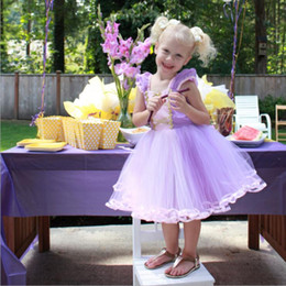 American Occasion Dresses Australia - 1pcs Kids designer girls dresses RAPUNZEL Princess dress toddler Cosplay costume special occasion birthday party childrens clothes