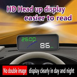 heads up gps UK - 2018 P9 HUD Smart GPS Car Head Up Display OBD2 Over Speed Warning Alarm System car dvd