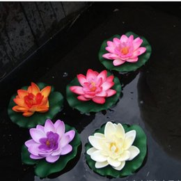 Flower artiFicial lotus Floating water online shopping - 1 cm Floating Lotus Artificial Flower Wedding Home Party Decorations DIY Water Lily Mariage Fake Plants