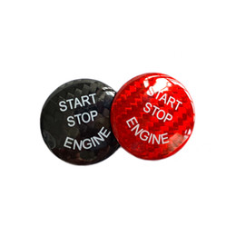$enCountryForm.capitalKeyWord Australia - Fashion Design Car Interior Parts Carbon Fiber Engine Start Stop Button Switch Protective Cap Trim Cover Sticker for BMW E70 E71 E72 E90 E92