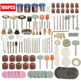 "$enCountryForm.capitalKeyWord Australia - 166Pcs Rotary Power Tool Fits 1 8"" Shank Electric Grinding Sanding Polishing Wheel Drill Accessory Bit with Cutting Disc Set"