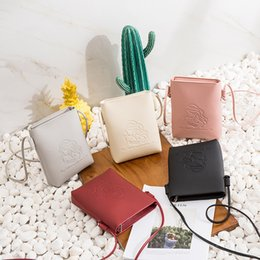 South korea lace online shopping - 1Package Japan And South Korea Woman Package Mini Small Square Package Personality Embossing Single Shoulder Messenger Small Bag Tide