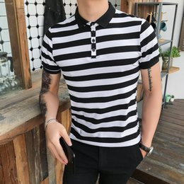 $enCountryForm.capitalKeyWord NZ - Summer Striped Polo Shirt Men Short Sleeve Cotton Slim Fit Casual Male Polo Shirts Fashion Mens Shirts polos para hombre