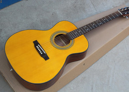 Acoustic guitAr online shopping - 41 quot Yellow Acoustic Guitar Chrome Hardwares Rosewood Fingerboard Offer Customized