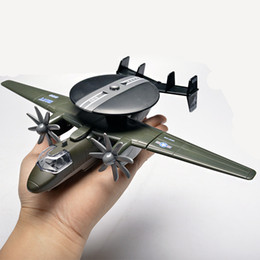 Toy Propellers Australia - [TOP] Simulation US Light and Sound Alloy Propeller air early warning aircraft model toy EWR aircraft plane decorations gift