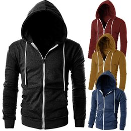 ad668cc55480 S-3XL Mens Casual Hoodies Slim Fit Sweatshirts Streetwear Long Sleeve  Zipper Hoodie With Pocket Outwear Plus Size Clothes  32