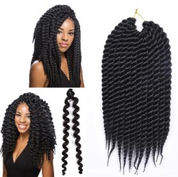 crochet braids 2019 - Black chemical fibre wig with thin braids takes senegalese crochet braids hair 12 inches and 12 roots Suitable for any s