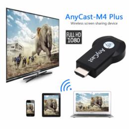 Опт Горячая Anycast M2 / M4 / M9plus Chromecast 2 зеркальное отражение нескольких ТВ-брелок Адаптер Мини-ПК Android Chrome Cast HDMI WiFi Dongle 1080 P новейшие