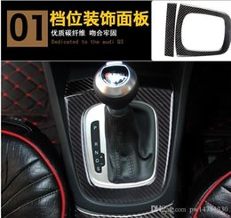 $enCountryForm.capitalKeyWord Australia - Dedicated to the Audi Q3 carbon fiber interior modified gear box cup holder in the control instrument table navigation frame decoration