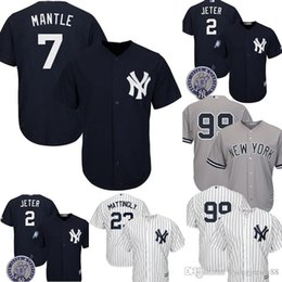 d4bad2874 New York Top Yankees Mickey Mantle Jersey Men's Majestic Cool Base Player  Replica Jersey Embroidery Baseball Jerseys M-XXXL