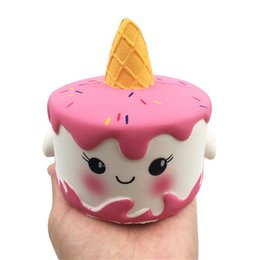 Toys Cell Phone NZ - 6 styles Squishy Toys squishies Rabbit unicorn elastic cake panda bear cake mermaid Slow Rising Squeeze Cute Cell Phone Strap gift for kids