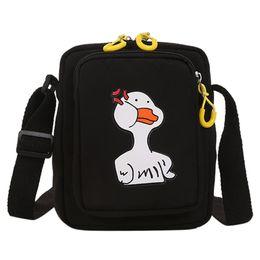 $enCountryForm.capitalKeyWord Australia - Women Fun Cute Ducklings Shoulder Bag Cartoon Girl Student Slung Canvas Bag black womens purses and handbags ladies designer#smt