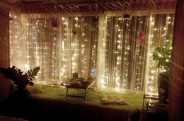$enCountryForm.capitalKeyWord UK - Twinkle Star 304 LED Window Curtain String Light Wedding Party Home Garden Bedroom Outdoor Indoor Wall Decorations 3*2M US EU