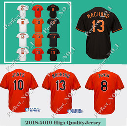 b540e00e6 Men s Baltimore 8 Cal Ripken Jr. 13 Manny Machado Baseball Jersey 10 Adam  Jones 12 Roberto Alomar Top quality Stitched jerseys