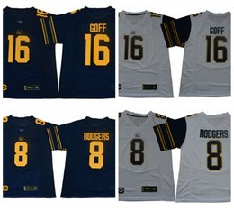 f4a330225 2019 California Golden Bears Jared Goff College Football Jerseys Mens CAL 8  Aaron Rodgers 16 Jared Goff New Blue Stitched Football Shirts