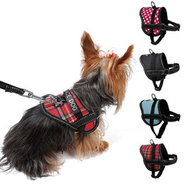 $enCountryForm.capitalKeyWord Australia - Reflective seat belt slogan dog chest back traction rope small dog Teddy pet dog chain pet supplies 4 colors