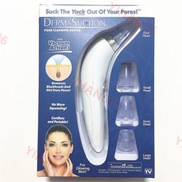 Venta al por mayor de 2019 Nuevo DermaSuction Remover Limpiador de poros faciales Poro eléctrico Extracción por extracción de vacío Máquina de pelado de piel recargable