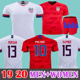f60a4ab63 MEN+Kids 2019 Gold Cup USA Soccer Jersey PULISIC DEMPSEY BRADLEY ALTIDORE  MORGAN Copa America Football Jerseys WOOD Uniform United States Sh