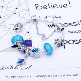 $enCountryForm.capitalKeyWord Australia - (Without box) SPC2 Blue Crystal Charms Bracelet for Kids Girls Murano Glass Beads Bracelet For Women Ladies DIY Fashion Jewelry