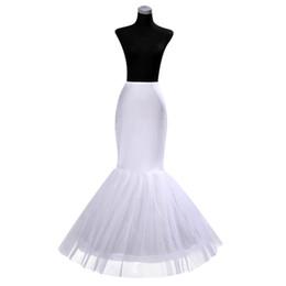 $enCountryForm.capitalKeyWord UK - IN STOCK Cheap One Hoop Petticoat Crinoline for Mermaid Wedding Dresses Flounced Mermaid Petticoat Slip free shipping