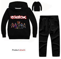 $enCountryForm.capitalKeyWord Australia - New Years Children Roblox Clothes Set Cartoon Printing Sport Hoodie Pants Suit Boy Girls Casual Clothing Sets Nova