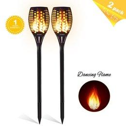 $enCountryForm.capitalKeyWord UK - Solar Tiki Torch Lights LED Garden Waterproof Outdoor Courtyard Lamp Dancing Flame Flickering 96 LEDs Decorative Lights IP65