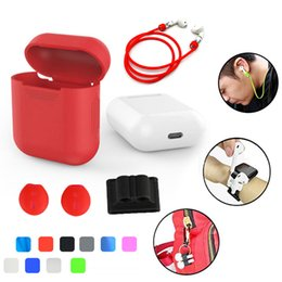 $enCountryForm.capitalKeyWord Australia - Silicone Carrying Earphone Case for Apple Airpods Air Pods Skin Sleeve Pouch Box Protector Wireless Headphone Protective
