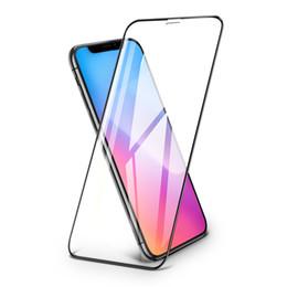Für iPhone 6s 7 8Plus X Xs Max XR 2.5D 9H Durchsichtiger gehärtetes Glas-Displayschutzfolien Siebdruck-Rand Volle Vorderseite Schutz im Angebot