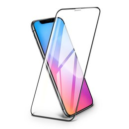 $enCountryForm.capitalKeyWord UK - For Iphone 6s 7 8Plus X Xs Max XR 2.5D 9H Clear Tempered Glass Screen Protectors Silk Screen Border Full Front Protective