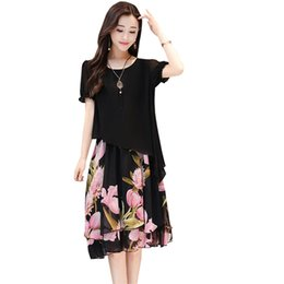 625d655be9 2019 Summer Plus Size Dress Short Sleeve Floral Print Chiffon Vestidos  Vintage O-neck Ruffles Casual Vestido Dress Re0499