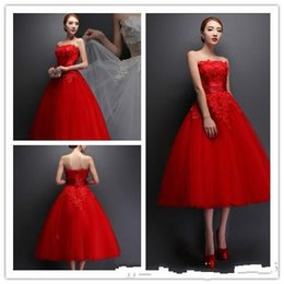 three dimensional pictures Australia - 2019 New Red Strapless Graduation Dresses three-dimensional lace applique Evening Dress sweet and elegant graduation Prom Dress plus size