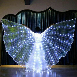 wings wear UK - Party Glowing Rave Bar Belly Dance Performance Props Light Up Stick Stage Wear Cosplay LED Wing 360 Degrees Shows